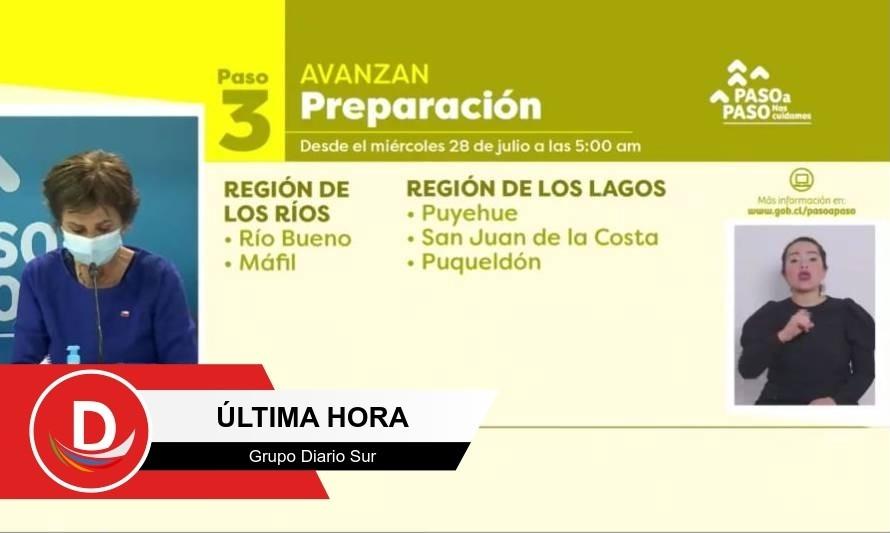 Puyehue, Ancud y otras tres comunas avanzan en plan Paso a Paso