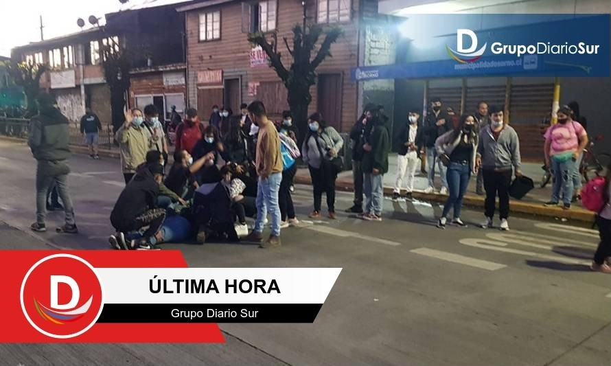 Adolescente fue atropellada en medio de manifestaciones en Osorno